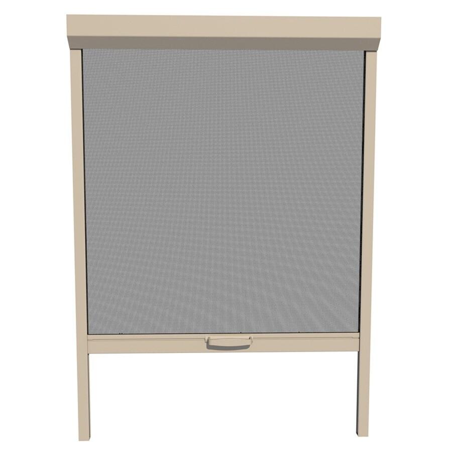 LARSON Naturevue Desert Tan Aluminum Retractable Curtain Screen Door (Common: 36-in x 72-in; Actual: 36-in x 72-in)