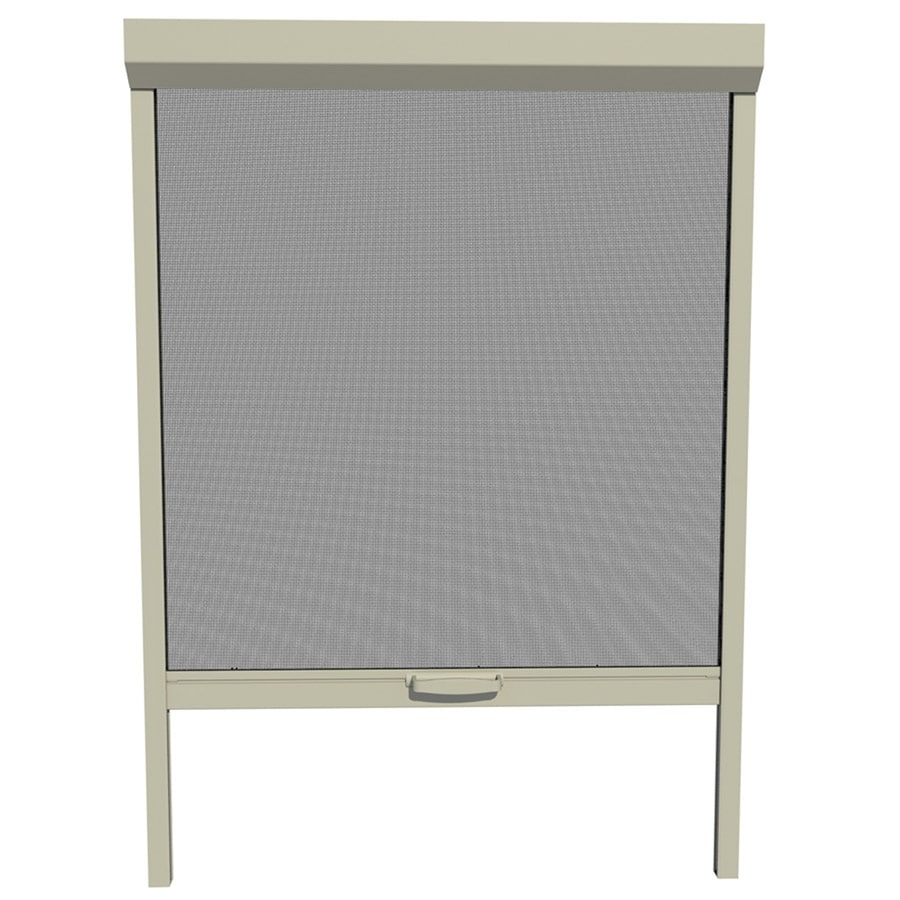 Shop larson 36 in x 72 in adobe retractable screen door at for Retractable screen door ratings