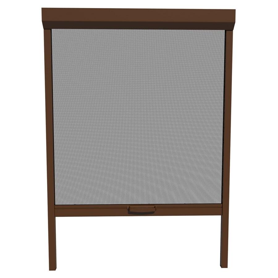 LARSON NatureVue Brownstone Aluminum Retractable Curtain Screen Door (Common: 36-in x 72-in; Actual: 36-in x 72-in)