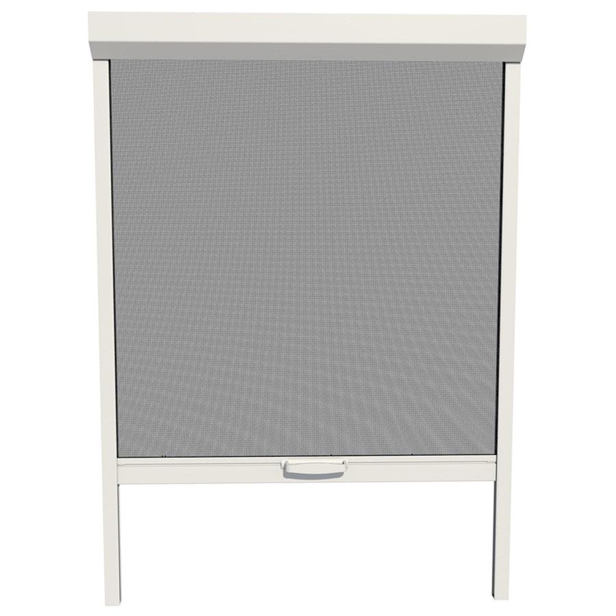 LARSON Naturevue White Aluminum Retractable Curtain Screen Door (Common: 48-in x 72-in; Actual: 48-in x 72-in)