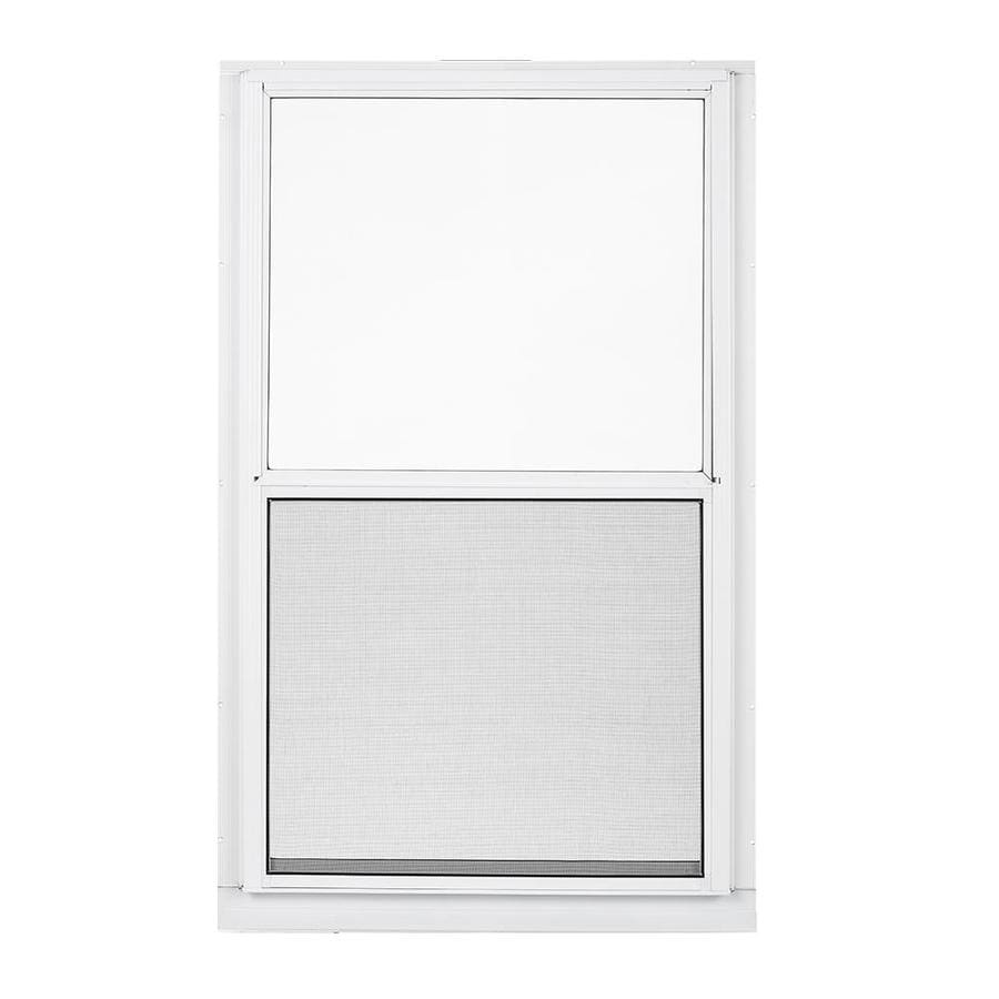 Shop larson low e aluminum storm window rough opening 28 for Storm windows
