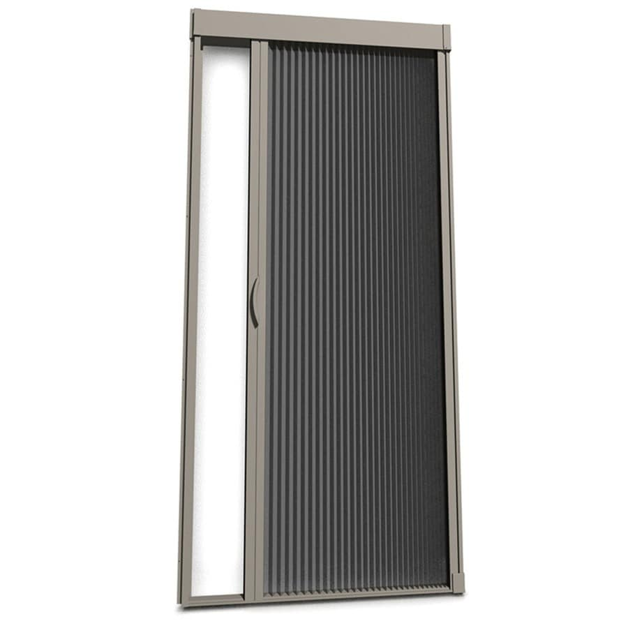 Shop larson inspire desert tan aluminum retractable for Aluminum screen doors