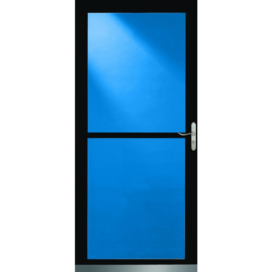 Shop Larson 36 In X 81 In Black Tradewinds Full View Tempered Glass