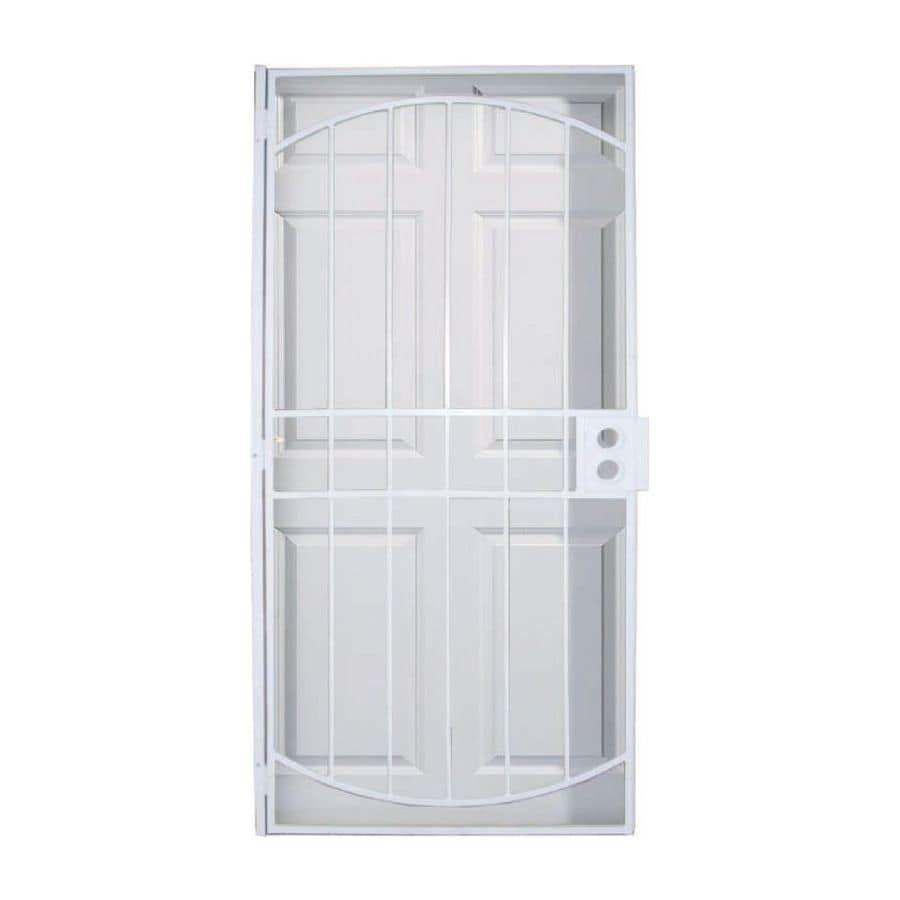 LARSON Geneva White Steel Security Door (Common 36-in x 81-in  sc 1 st  Loweu0027s & Shop LARSON Geneva White Steel Security Door (Common: 36-in x 81-in ...