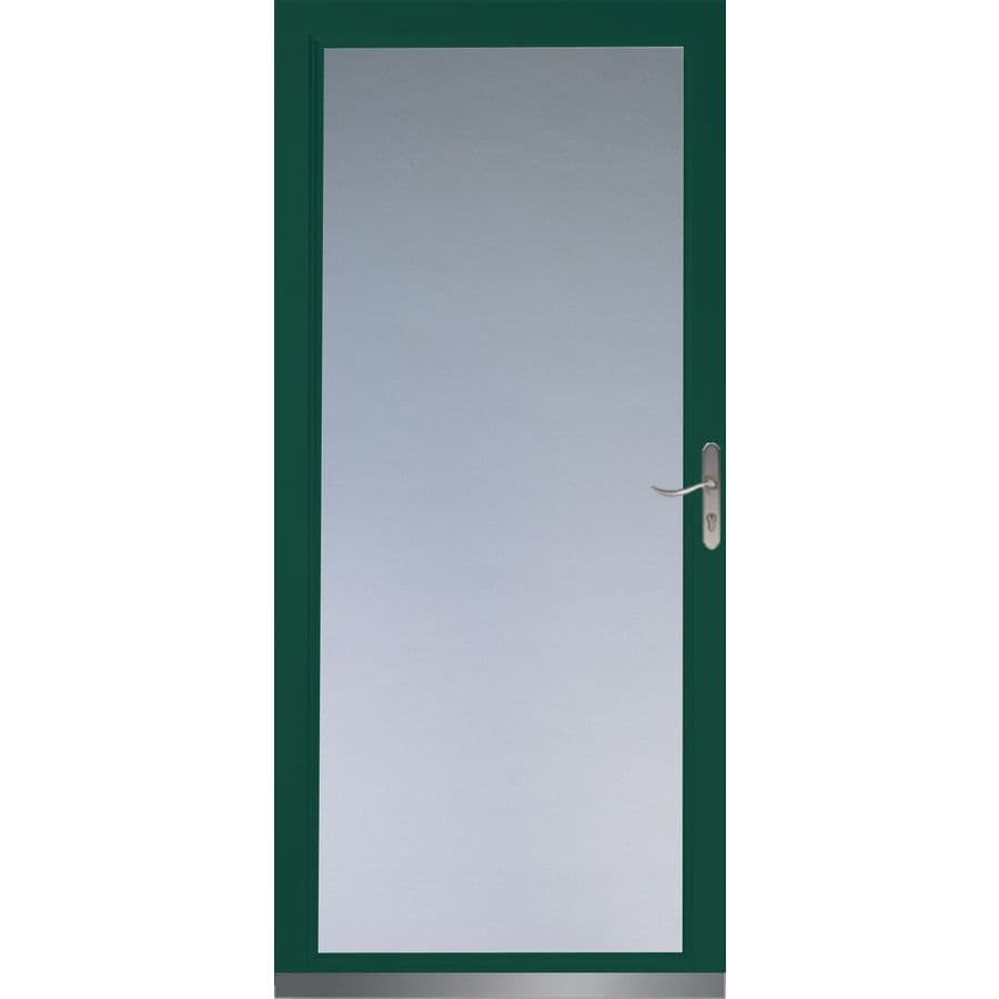 LARSON Signature Low E Green Full View Tempered Glass And Interchangeable Screen  Storm Door