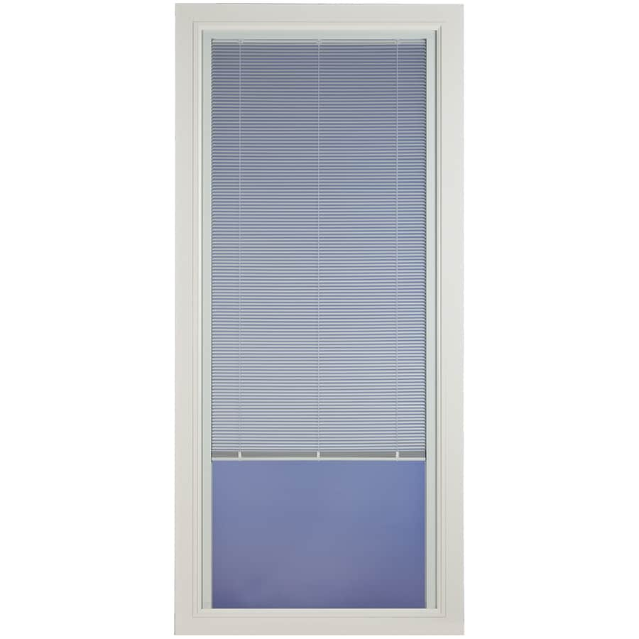 Pella Venetian White Full-View Aluminum Storm Door (Common: 32-in x 81-in; Actual: 31.75-in x 79.875-in)
