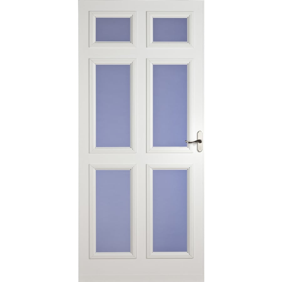 LARSON White Lexington Full-View Tempered Glass Storm Door (Common: 84-in x 36-in; Actual: 81.13-in x 37.56-in)