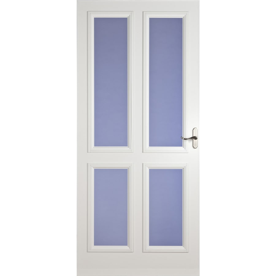 LARSON White Carlisle Full-View Tempered Glass Storm Door (Common: 84-in x 36-in; Actual: 81.13-in x 37.56-in)