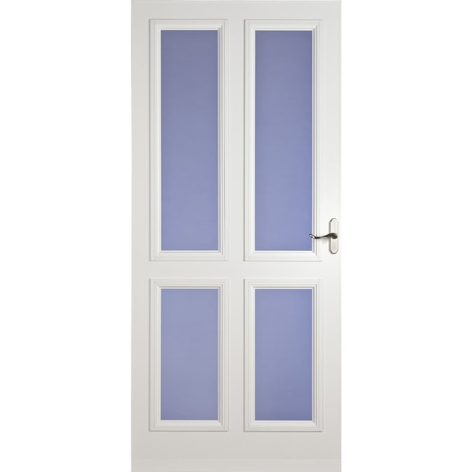 Larson White Carlisle Full View Tempered Glass Storm Door Common 84 In X 36 In Actual 81 13 In X 37 56 In At Lowes Com