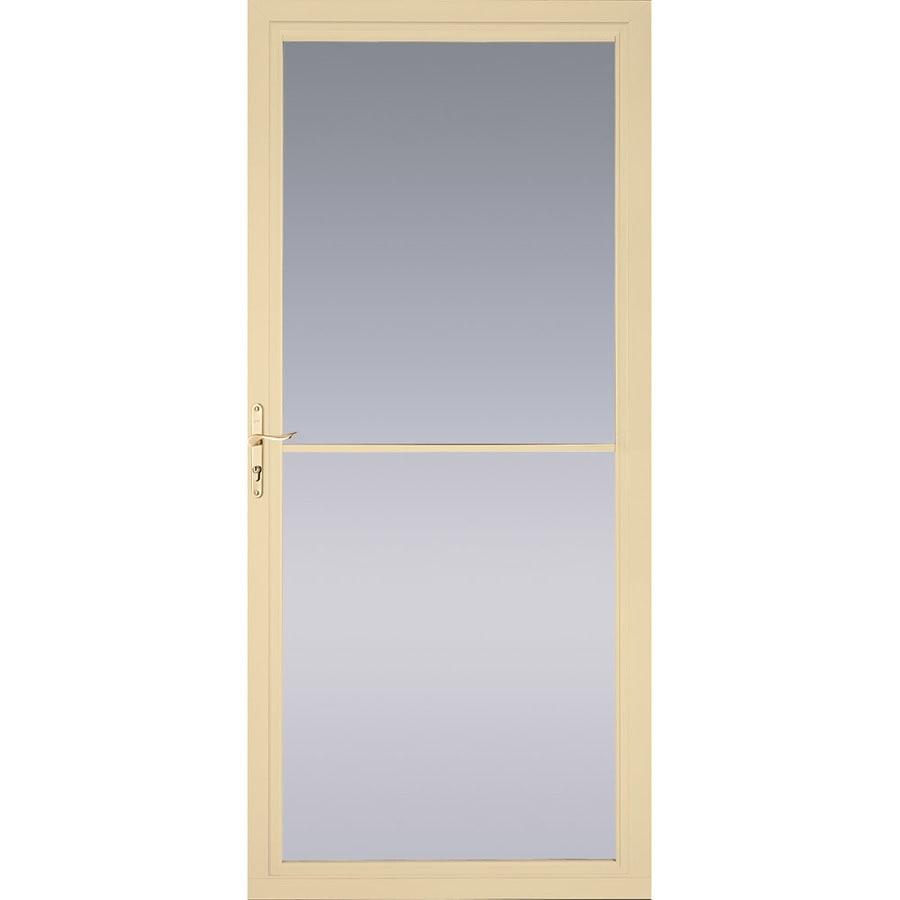 Pella Montgomery Poplar White Full View Aluminum Storm Door With Retractable  Screen (Common: