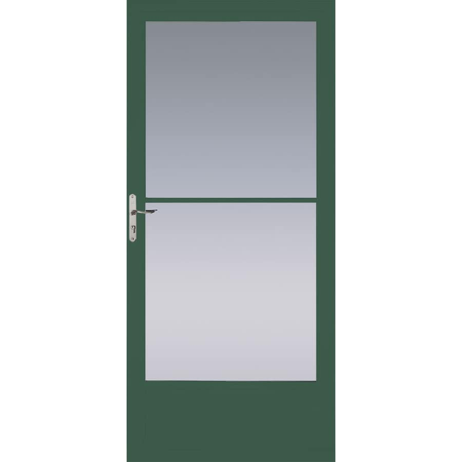 Pella Hartford Green Mid-View Aluminum Storm Door (Common: 32-in x 81-in; Actual: 31.75-in x 79.875-in)