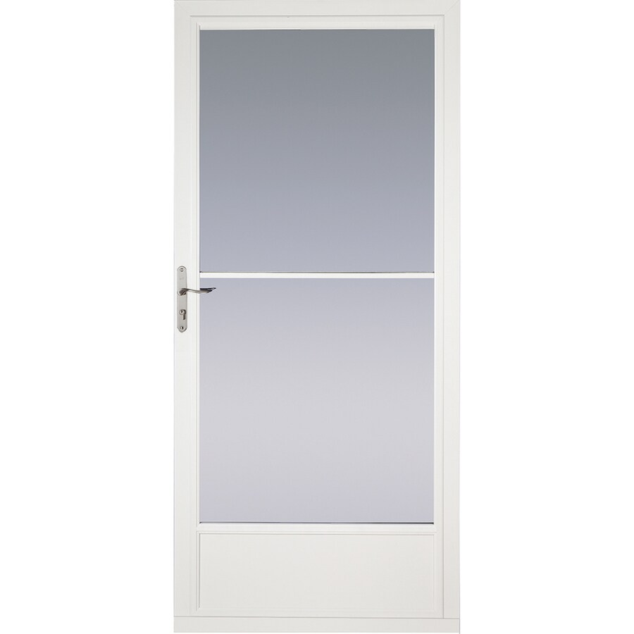 Pella White Mid-View Aluminum Storm Door (Common: 32-in x 81-in; Actual: 31.75-in x 79.875-in)