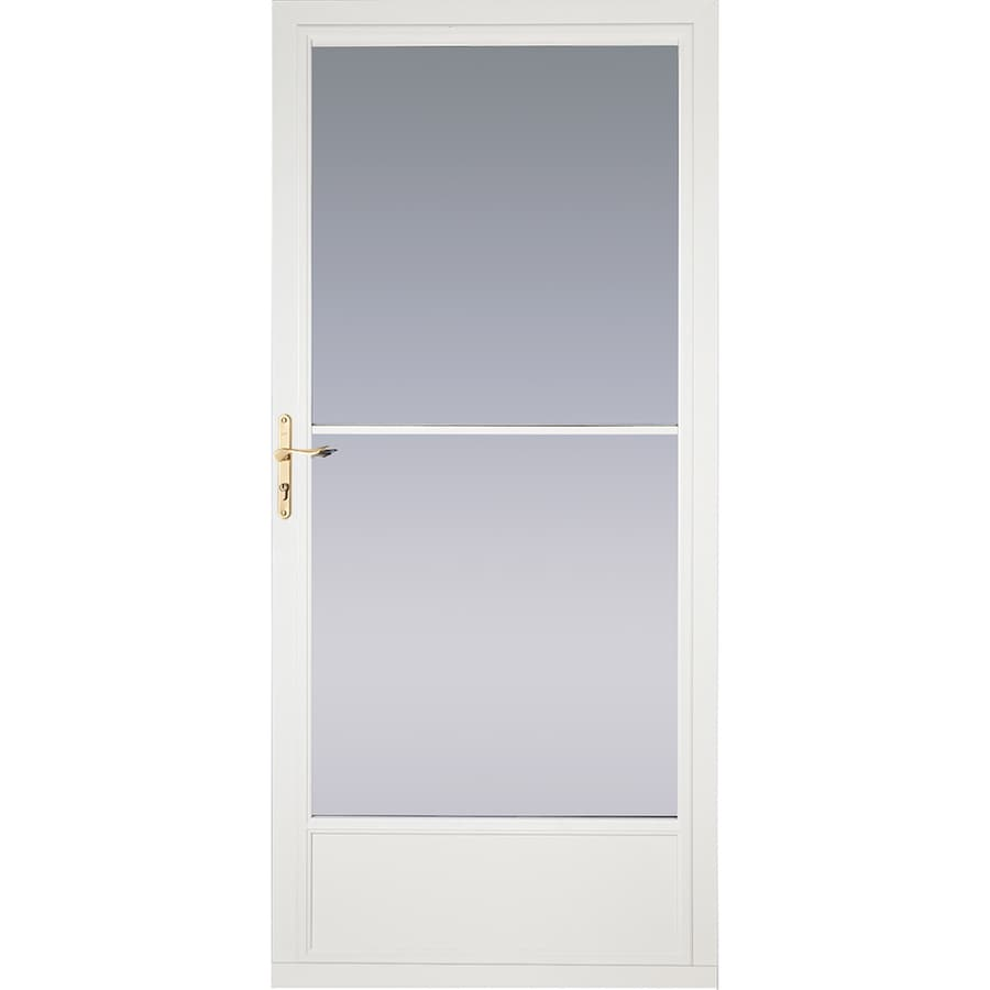 Shop Pella White Mid View Aluminum Retractable Screen