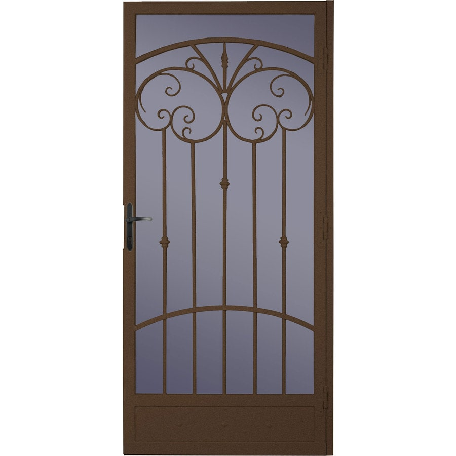 Shop larson steel recessed mount single security door for Metal security doors