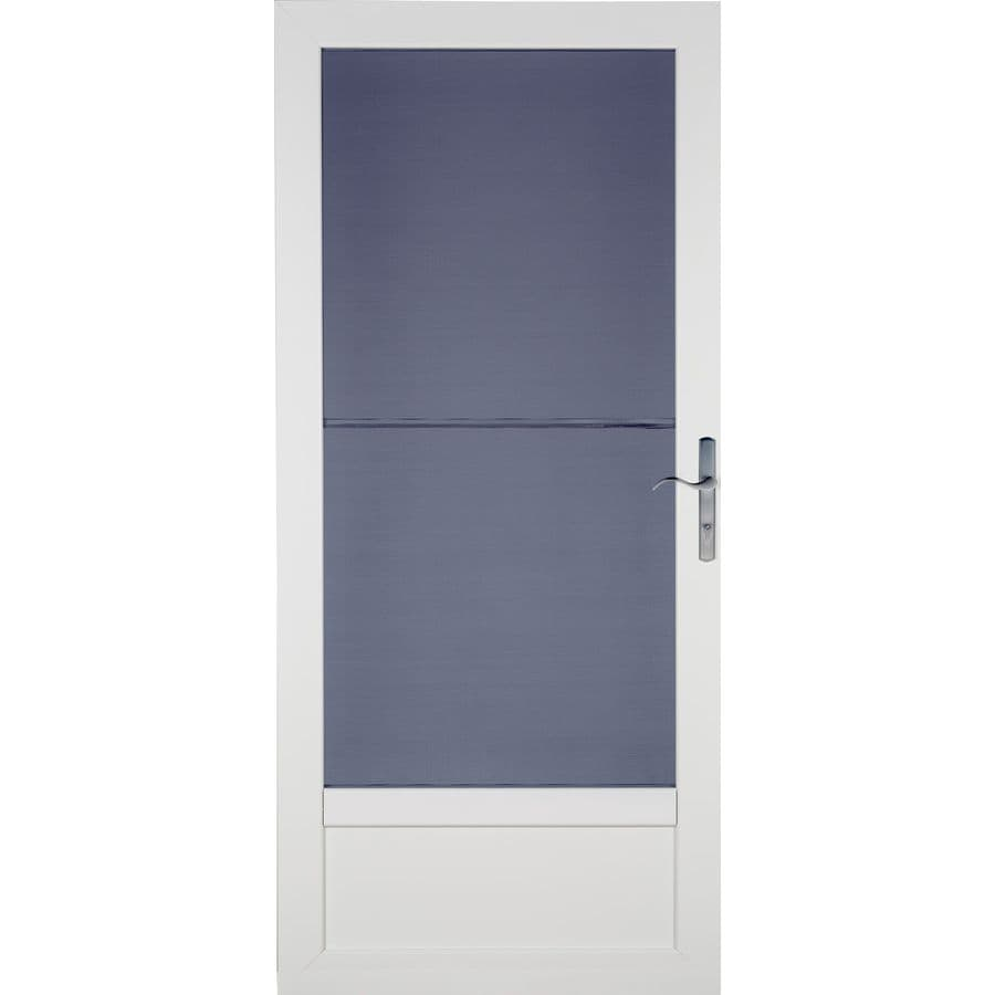 LARSON Patriot White Aluminum Security Door (Common: 36-in x 81-in; Actual: 35.75-in x 79.75-in)