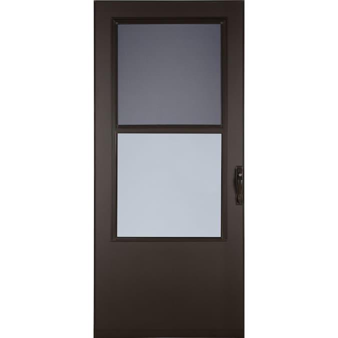Larson 32 In X 81 In Brown Mid View Storm Door In The Storm Doors Department At Lowes Com
