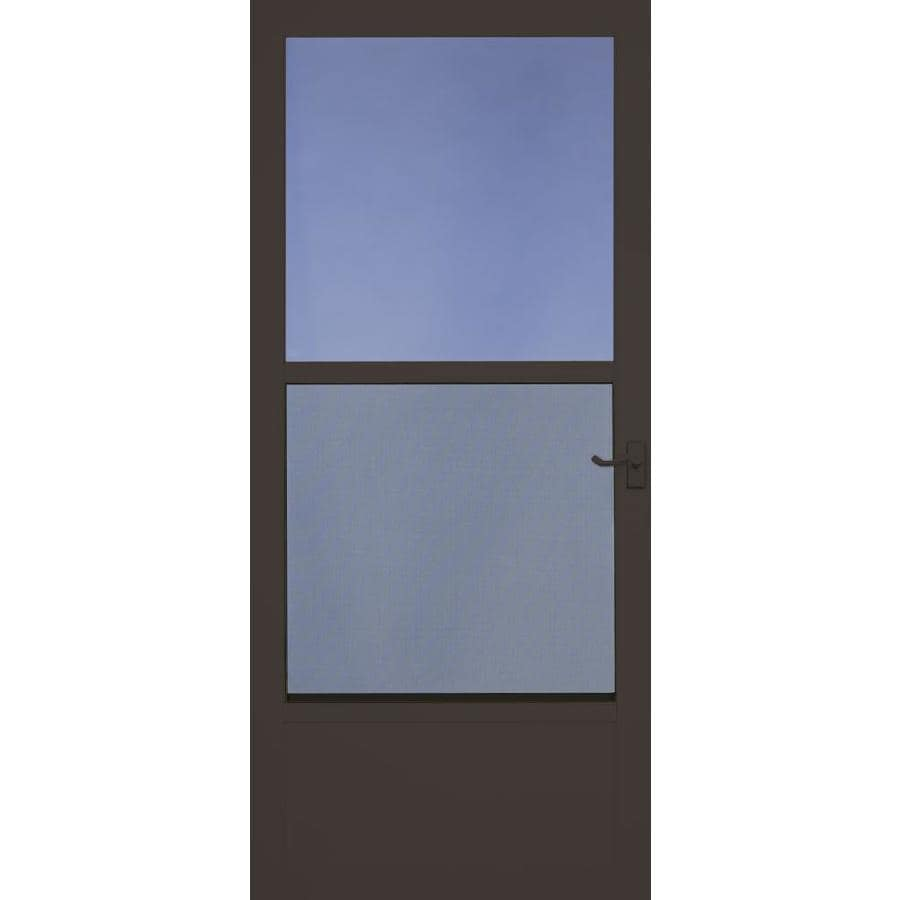 Shop Larson Southport Brown Mid View Aluminum Storm Door
