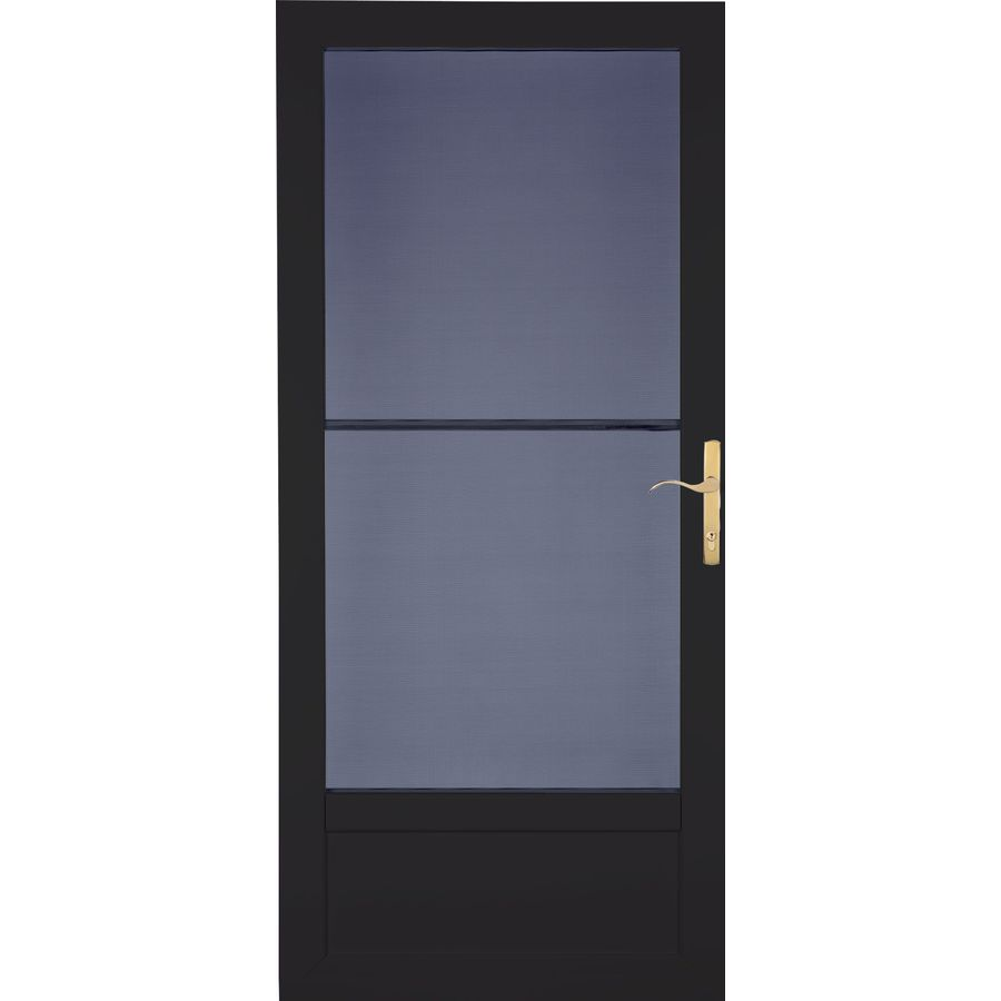 LARSON Patriot Black Aluminum Security Door (Common: 32-in x 81-in; Actual: 31.75-in x 79.75-in)