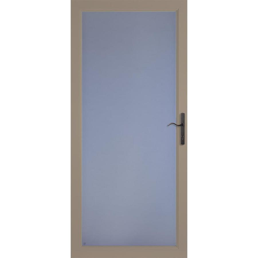 LARSON Secure Elegance Sandstone Full-View Aluminum Standard Storm Door (Common: 32-in x 81-in; Actual: 31.75-in x 79.75-in)