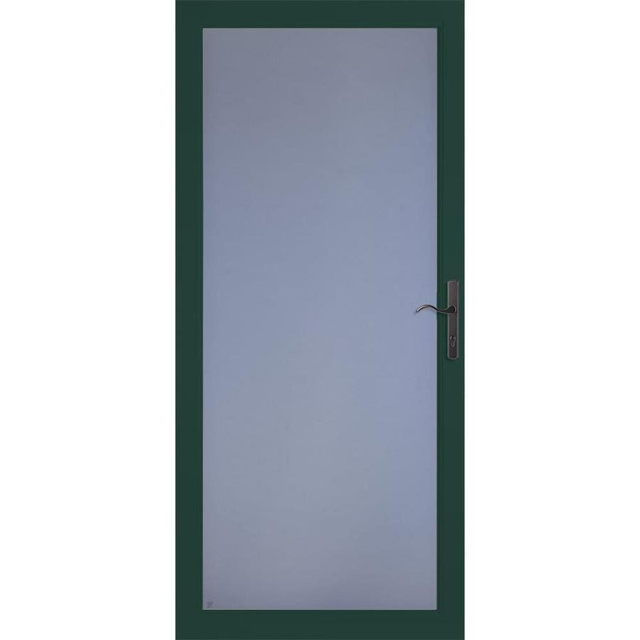 LARSON Secure Elegance Green Full-View Laminated Security Glass Storm Door (Common: 36-in x 81-in; Actual: 35.75-in x 79.75-in)