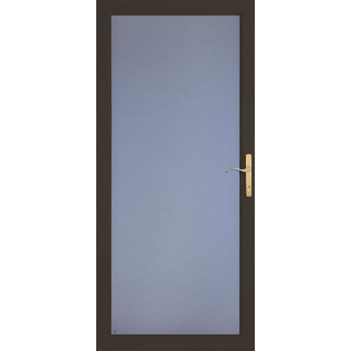 Larson Secure Elegance Brown Full View Aluminum Storm Door
