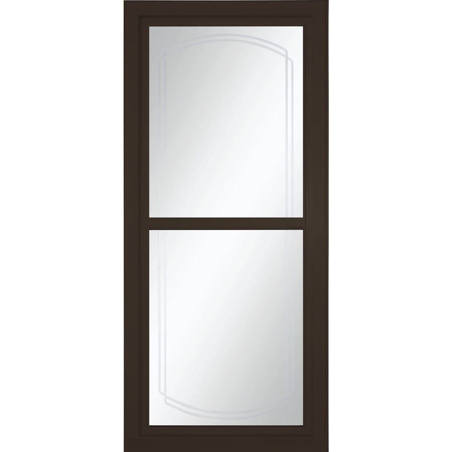 LARSON Tradewinds Selection Brown Full-View Aluminum Storm Door with Retractable Screen (Common: 36-in x 81-in; Actual: 35.75-in x 79.75-in)