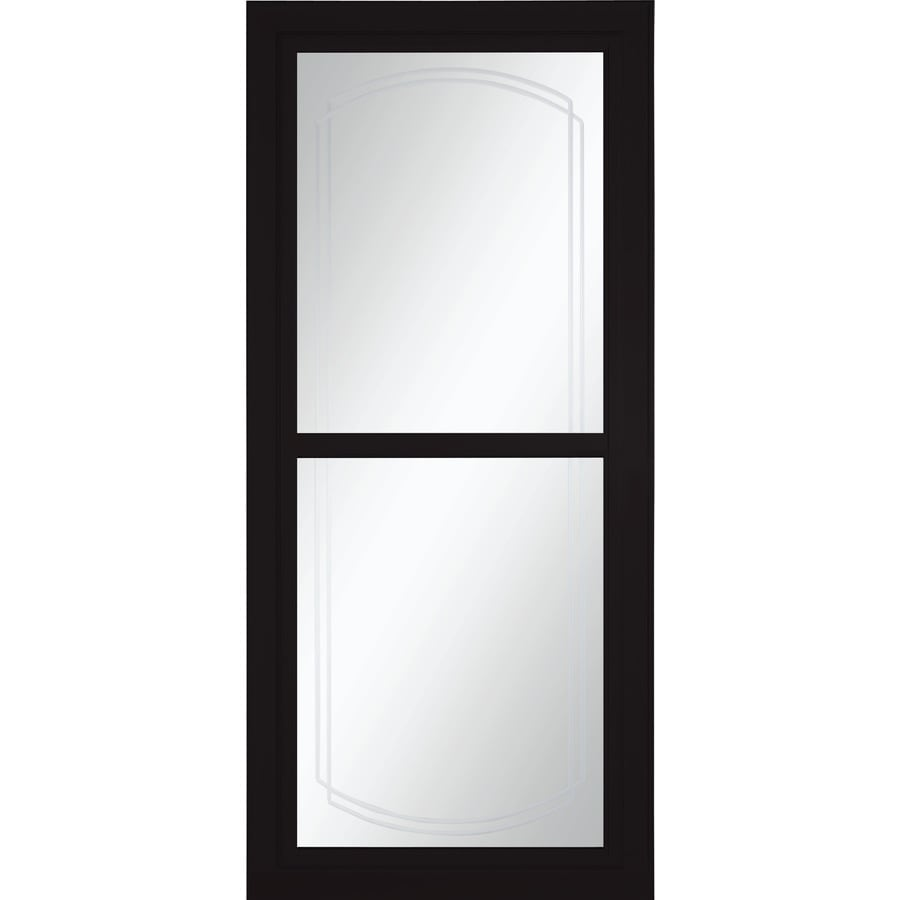 Shop larson tradewinds bevel black full view aluminum for Retractable screen door