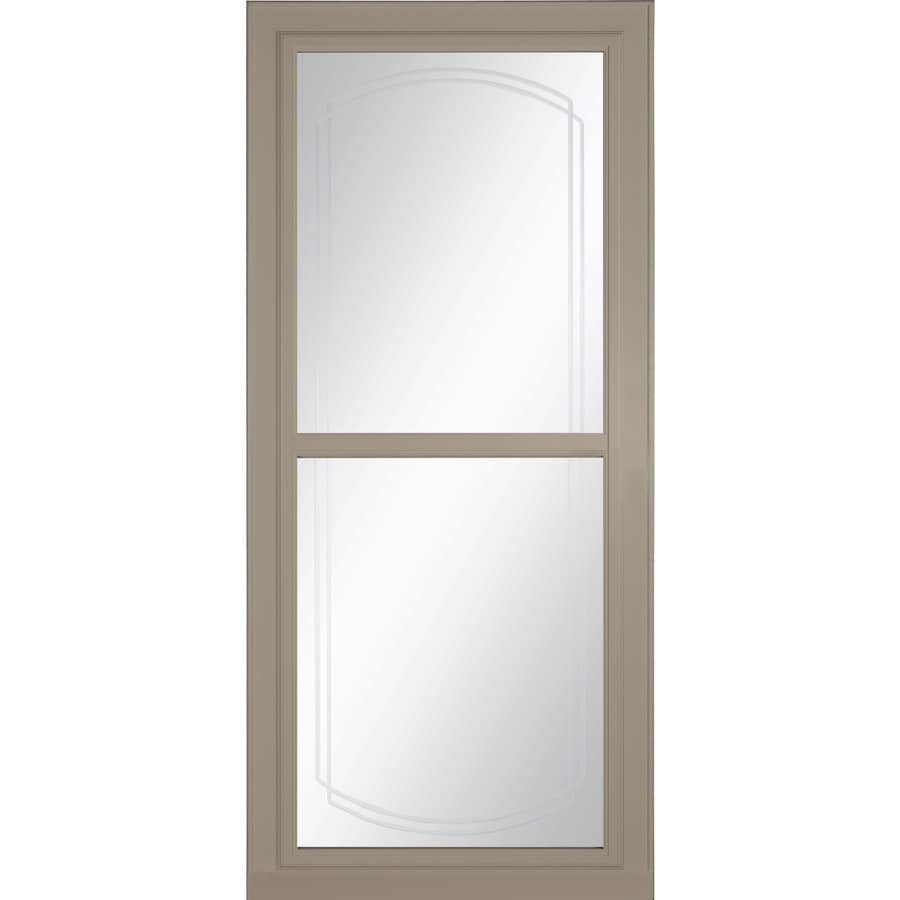 Shop larson tradewinds selection sandstone full view for Disappearing screen doors lowes