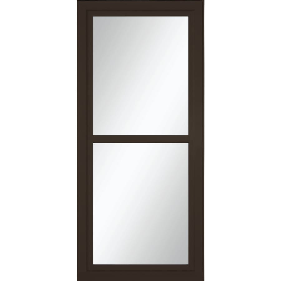 Shop Larson Tradewinds Brown Full View Aluminum Storm Door Common