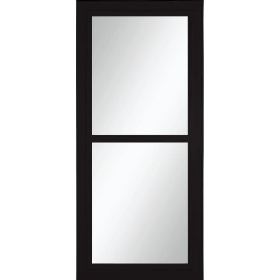 Shop Larson Tradewinds Black Full View Aluminum Storm Door Common