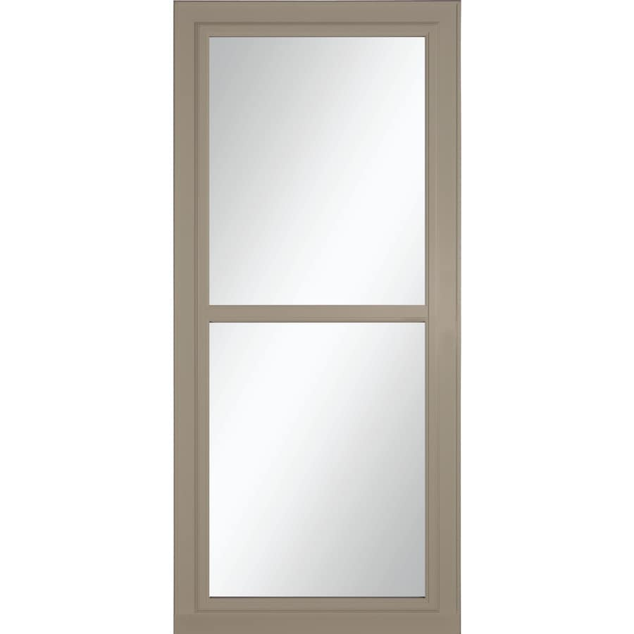Shop larson tradewinds selection sandstone full view for Aluminum screen doors