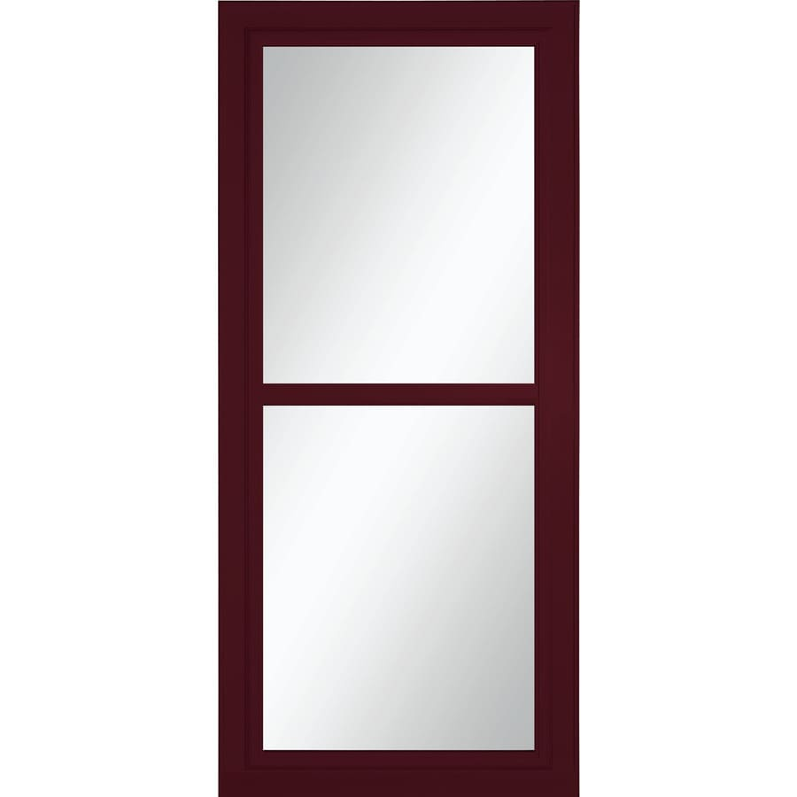 LARSON Tradewinds Selection Cranberry Full-View Aluminum Storm Door with Retractable Screen (Common: 32-in x 81-in; Actual: 31.75-in x 79.75-in)