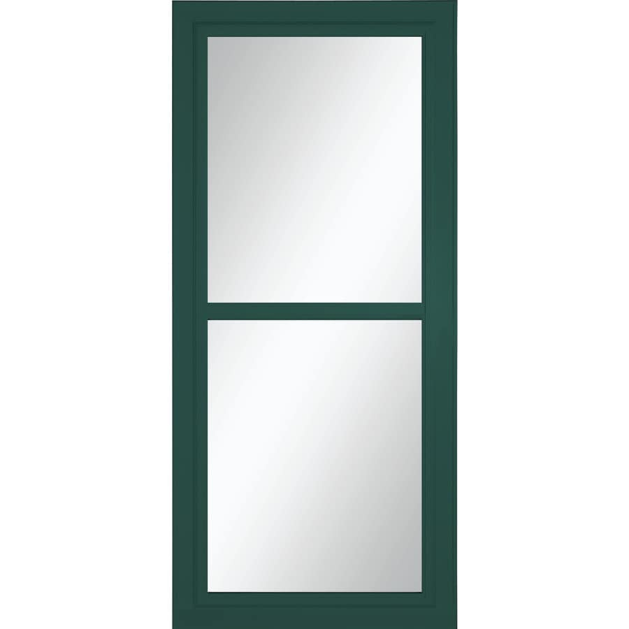 LARSON Tradewinds Selection Green Full-View Aluminum Retractable Screen Storm Door (Common: 32-in x 81-in; Actual: 31.75-in x 79.75-in)