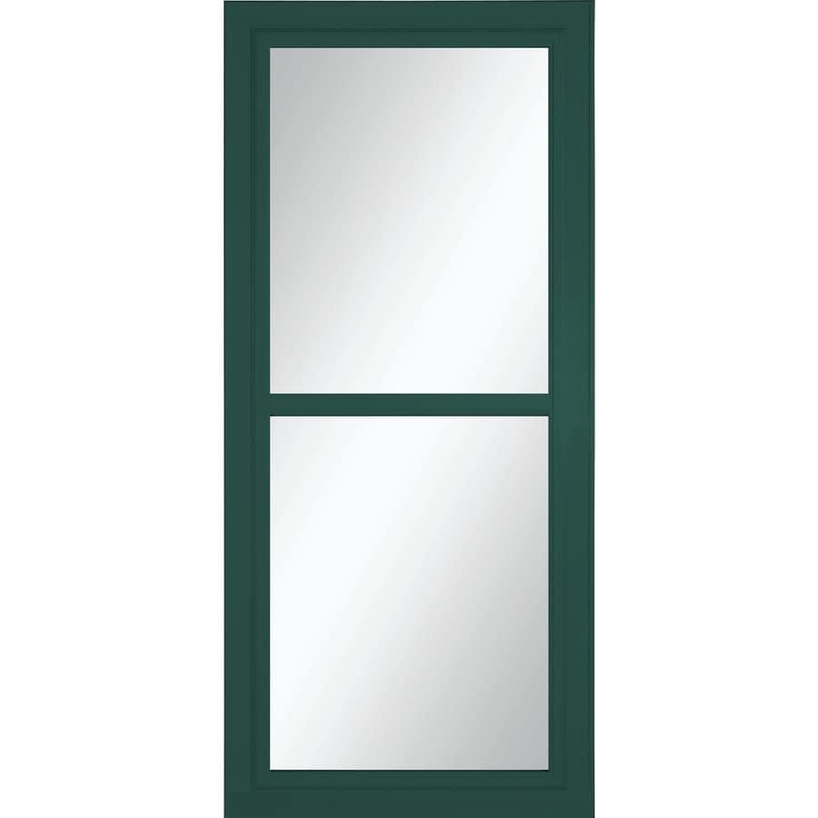 LARSON Tradewinds Selection Green Full-View Aluminum Storm Door (Common: 36-in x 81-in; Actual: 35.75-in x 79.75-in)