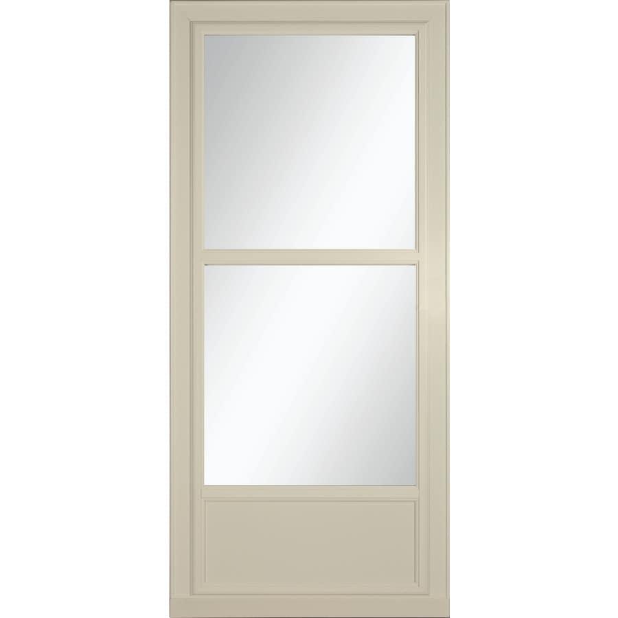 LARSON Tradewinds Selection Almond Mid-View Aluminum Storm Door with Retractable Screen (Common: 32-in x 81-in; Actual: 31.75-in x 79.75-in)