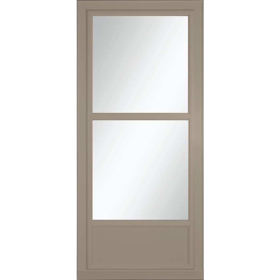 LARSON Tradewinds Selection Sandstone Mid-View Aluminum Storm Door (Common: 32-in x 81-in; Actual: 31.75-in x 79.75-in)