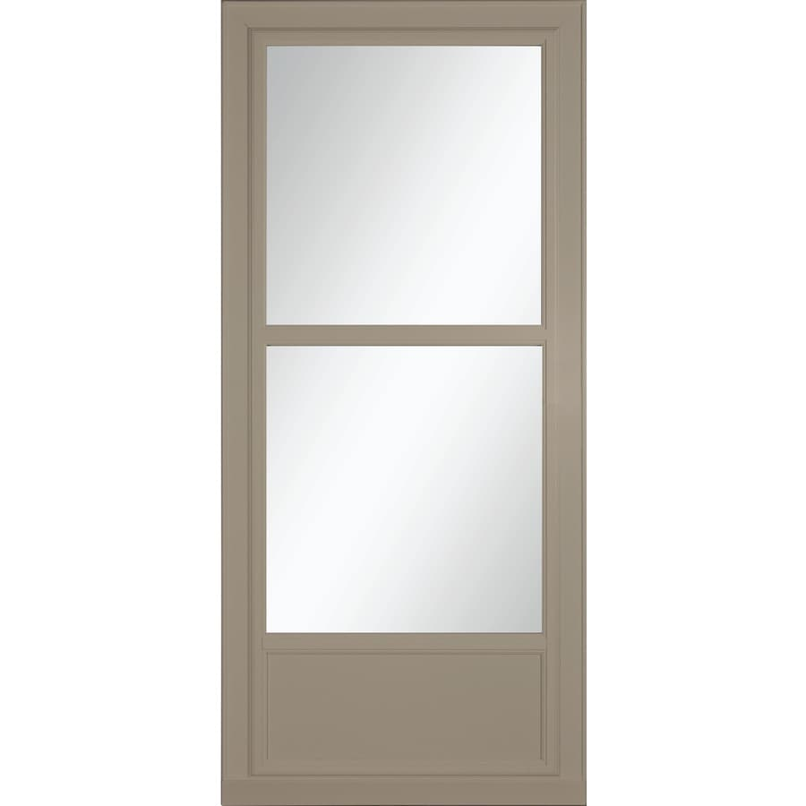 LARSON Tradewinds Selection Sandstone Mid-View Aluminum Storm Door with Retractable Screen (Common: 34-in x 81-in; Actual: 33.75-in x 79.75-in)
