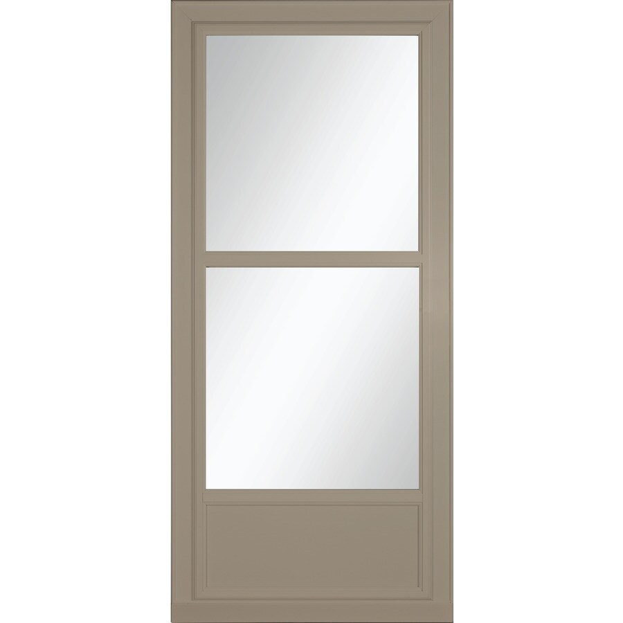 Shop larson tradewinds sandstone mid view aluminum storm for Larson retractable screen door
