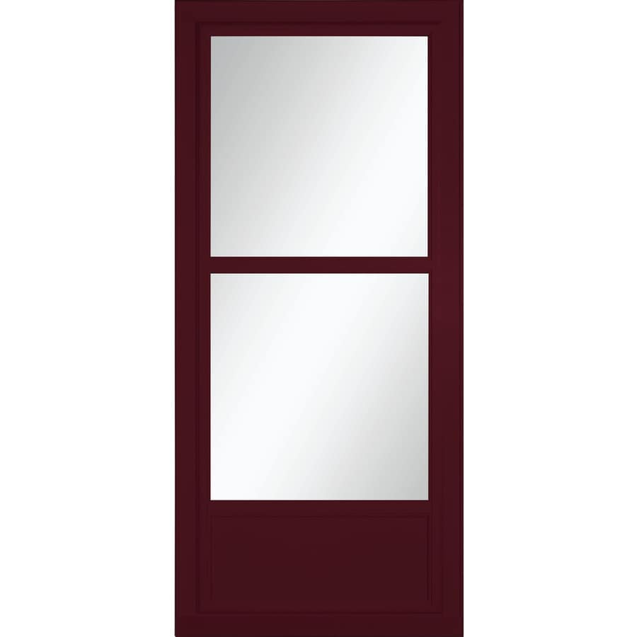 LARSON Tradewinds Selection Cranberry Mid-View Aluminum Retractable Screen Storm Door (Common: 32-in x 81-in; Actual: 31.75-in x 79.75-in)