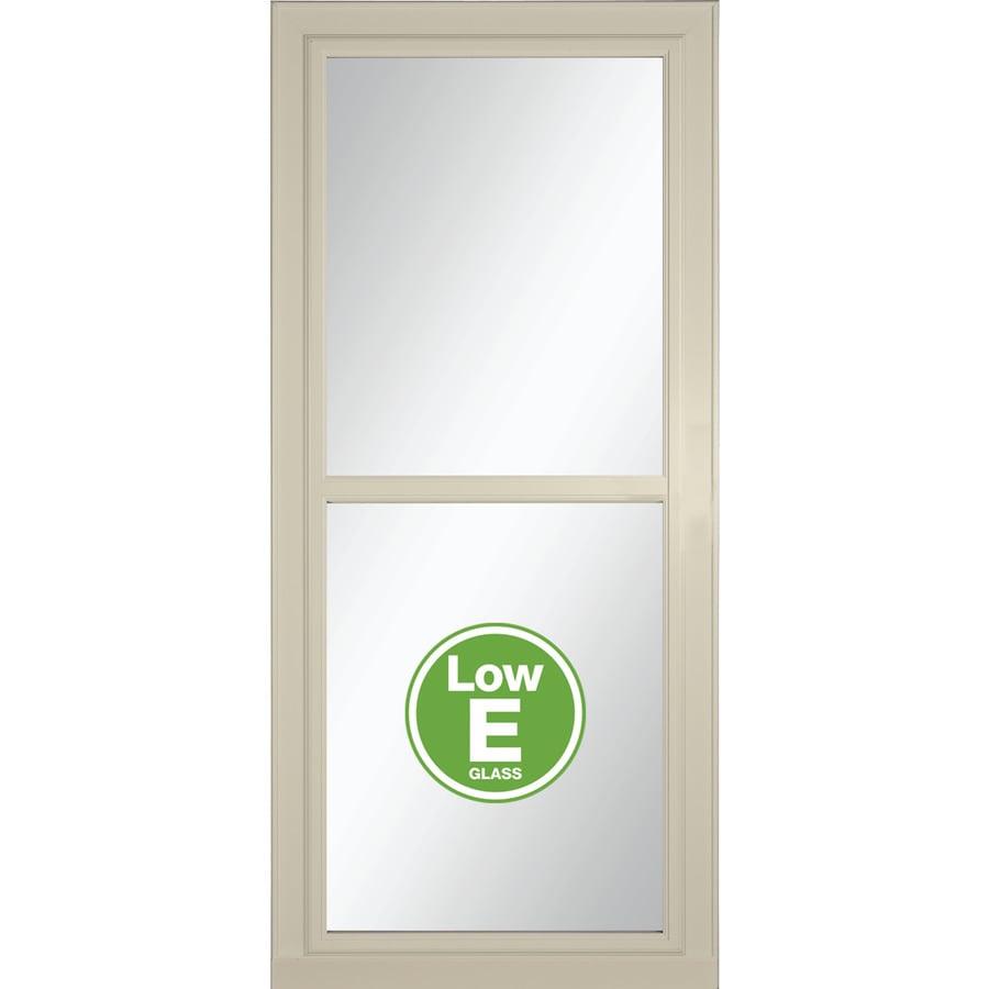 LARSON Tradewinds Selection Almond Full-View Aluminum Retractable Screen Storm Door (Common: 32-in x 81-in; Actual: 31.75-in x 79.75-in)