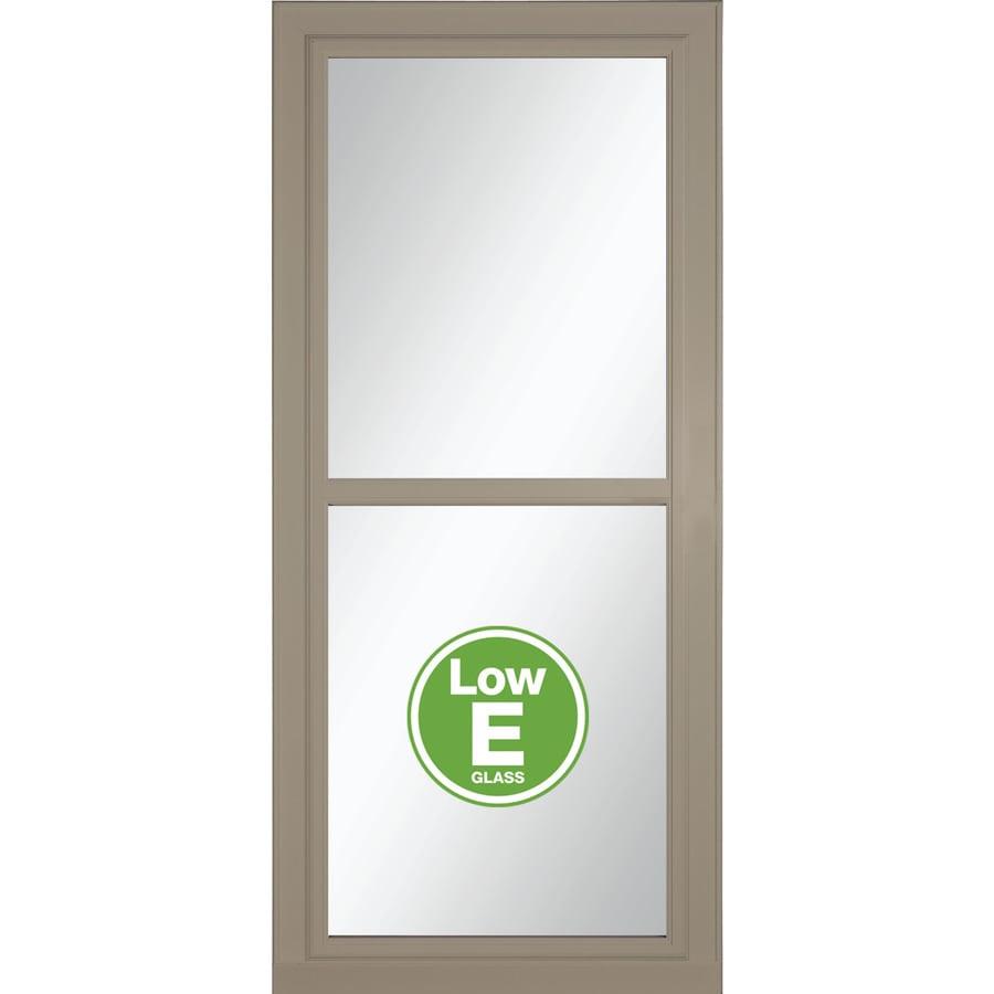 LARSON Tradewinds Selection Sandstone Full-View Aluminum Storm Door (Common: 36-in x 81-in; Actual: 35.75-in x 79.75-in)