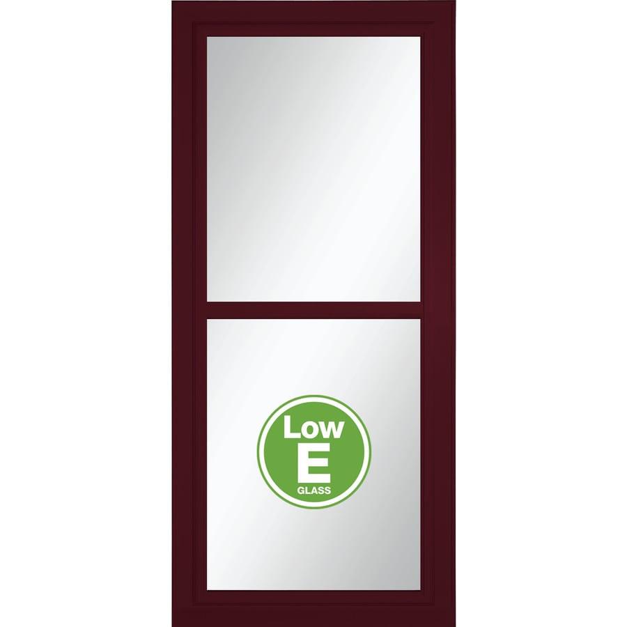 LARSON Tradewinds Selection Cranberry Full-View Aluminum Storm Door with Retractable Screen (Common: 32-in x 81-in; Actual: 31.75-in x 79.75-in)