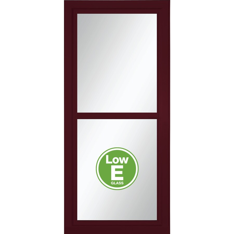LARSON Tradewinds Selection Cranberry Full-View Aluminum Storm Door (Common: 36-in x 81-in; Actual: 35.75-in x 79.75-in)