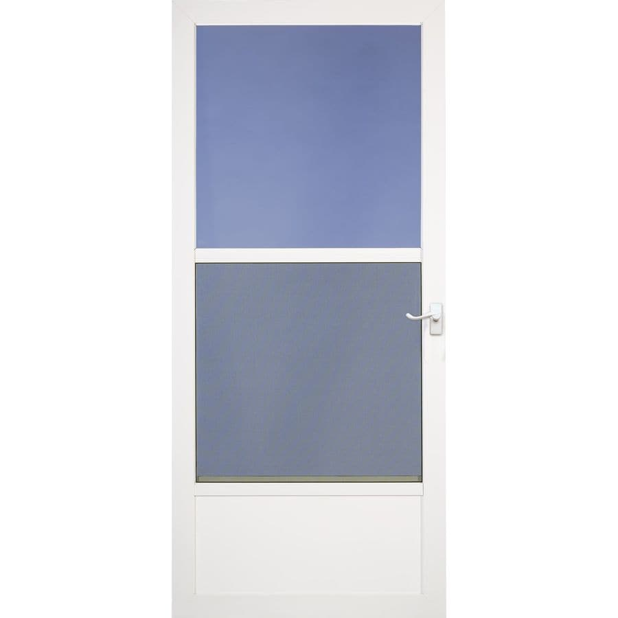 LARSON Southport White Mid-View Aluminum Storm Door (Common: 34-in x 80-in; Actual: 33.75-in x 79.75-in)