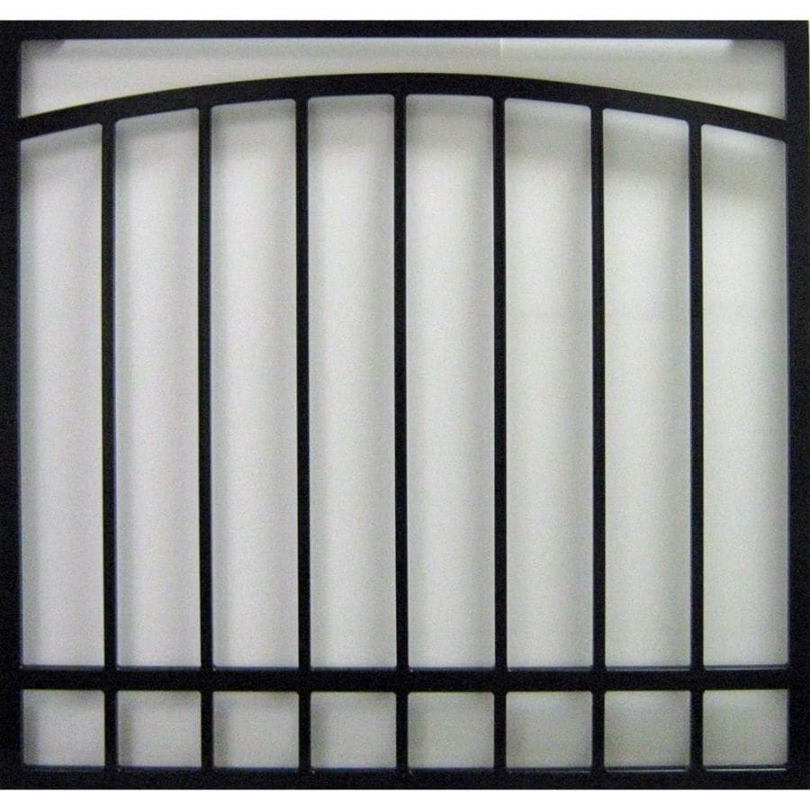 Gatehouse 30-in x 48-in Black Arched Window Security Bar