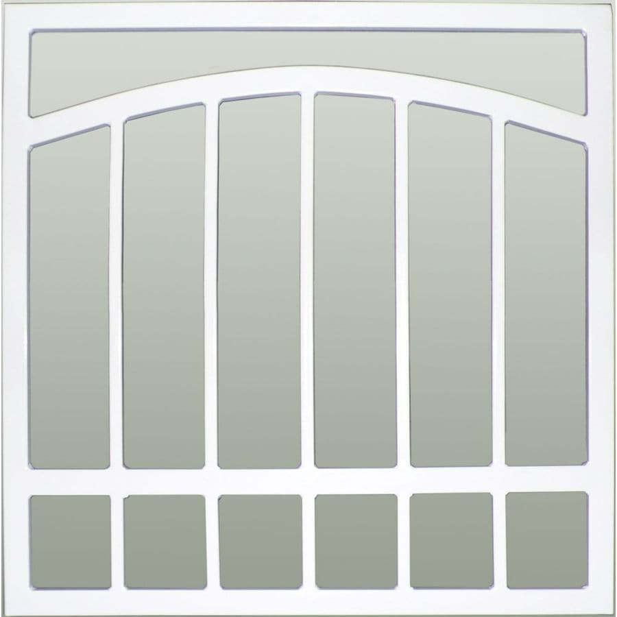 Window Security Bars Lowes >> Shop Gatehouse Arched 48-in White Arched Window Security ...