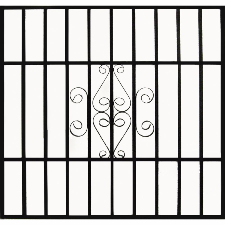 Gatehouse 30-in x 30-in Black Scrolled Window Security Bar