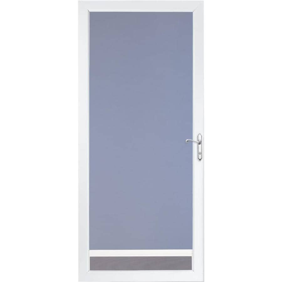 Shop larson nuvent white full view aluminum standard storm for 32x80 storm door