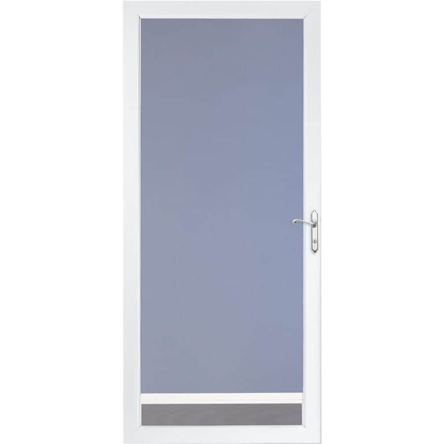 LARSON NuVent White Full-View Tempered Glass Aluminum Storm Door (Common: 36-in x 81-in; Actual: 35.75-in x 79.75-in)