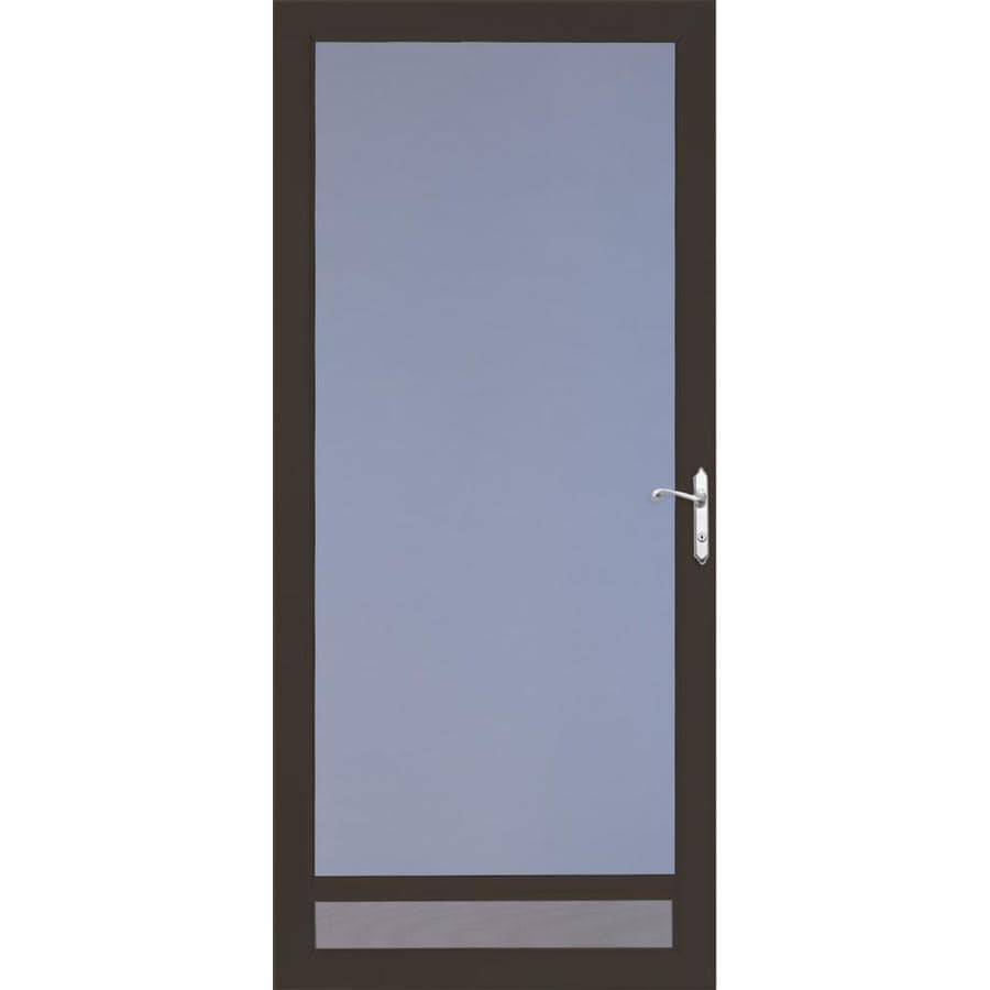 LARSON Nuvent Brown Full-View Tempered Glass Aluminum Storm Door (Common: 32-in x 81-in; Actual: 31.75-in x 79.75-in)